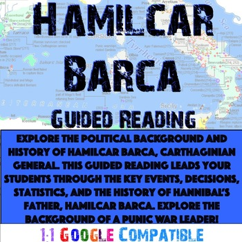 Punic Wars - Hamilcar Barca Guided Reading!