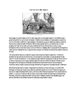 Punic Wars Poster Activity