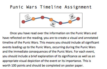 Punic Wars Timeline Project Rubric
