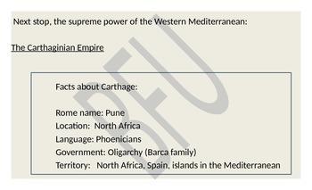 Punic Wars:The Roman Republic versus Carthage (Reading & Activity)