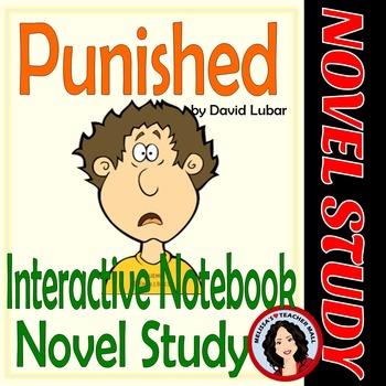 Punished Novel Unit Interactive Notebook focused on Figura