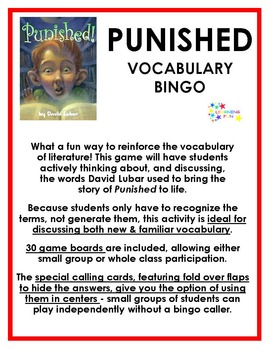 Punished Vocabulary Bingo