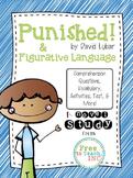 Punished! by David Lubar Novel Study & Figurative Language Activities