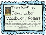 """""""Punished"""", by David Lubar, Vocabulary Posters for the Book"""