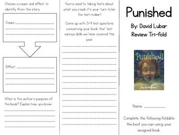 Punished by David Lubar Tri-fold Set