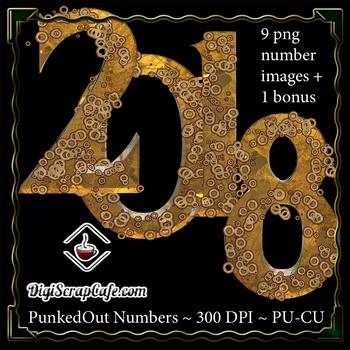 PunkedOut Steampunk Numbers CU