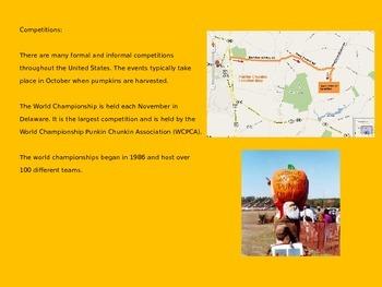 Punkin Chuckin (Pumpkin Chucking) Power Point Sport Information Facts