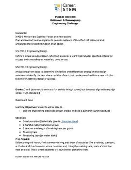 Punkin Chunkin! Halloween & Thanksgiving Engineering Challenge