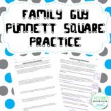 Punnett Square Genetics Practice Worksheet with KEY