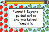 Punnett Square Guided Notes and Worksheet Template