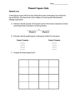 Punnett Square Quiz