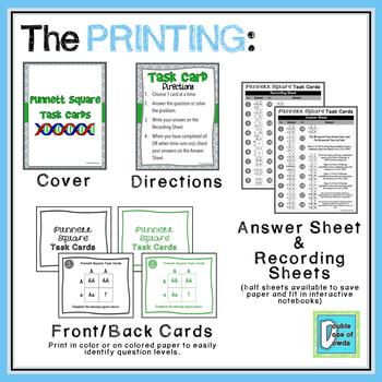 Punnett Square Task Cards