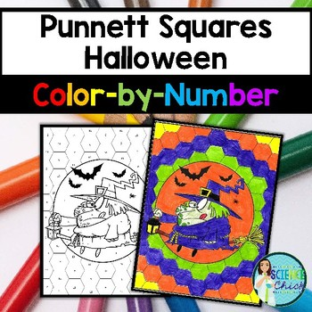Punnett Squares Halloween Color-by-Number