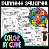 Punnett Squares Color By Number   Science Color By Number