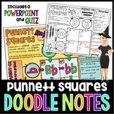 PUNNETT SQUARES SCIENCE DOODLE NOTES, INTERACTIVE NOTEBOOK