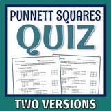 Punnett Squares Genetics Quiz 2 Versions Middle School NGSS MS-LS3-2