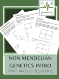 Punnett Squares Intro to Non-Mendelian Genetics