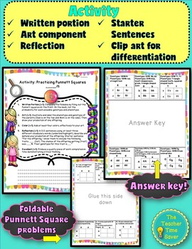 Punnett Squares Lesson (presentation, notes and activity)