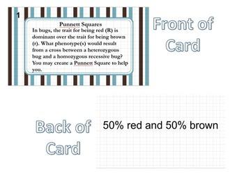 Punnett Squares Task Cards Genetics Phenotype/Genotype Review