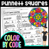 Punnett Squares Valentine's Day Color By Number | Science