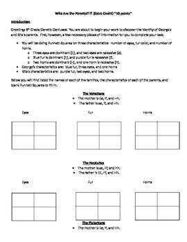 Punnett Squares - Who are the Parents