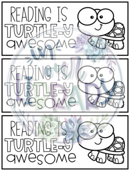 Punny Turtle Bookmarks