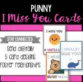 Punny I Miss You Cards - Distance Learning Resource