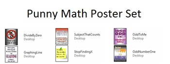 Punny Math Poster Set (6)
