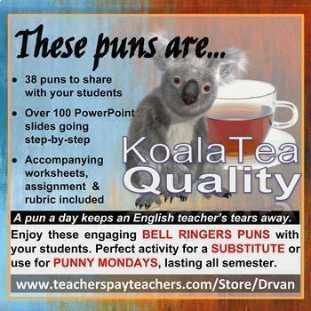 Engaging & Fun Koala-Tea Puns (Literary Terms) GREAT FOR SUBSTITUTES