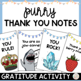 End of the Year Thank You Notes Activity