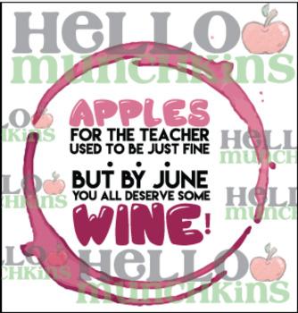Punny Teacher Gift Tags
