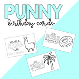 Punny Thank you and Birthday cards