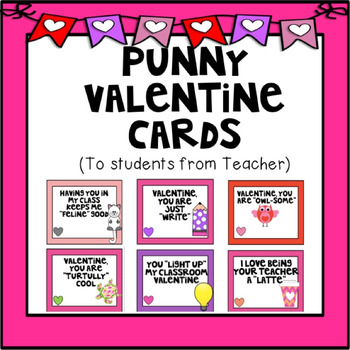 Punny Valentine Cards From Teacher By Turtully First Grade Tpt