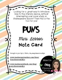 Puns Note Card