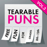 Puns, Tearable Puns, Now That's Punny! Vol. 3 FREE Tearable Pun Sheets, Fun Puns