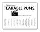 Puns, Tearable Puns, Now That's Punny! Vol. 3 FREE Tearable Pun Sheets, Fun Puns