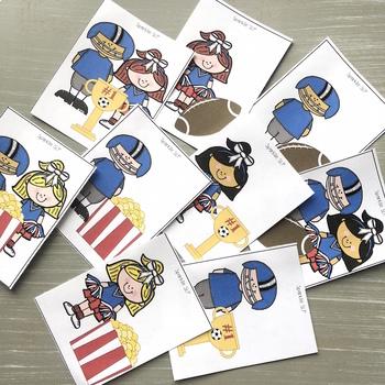 Football & Cheerleader Themed Pronouns:  Task Cards