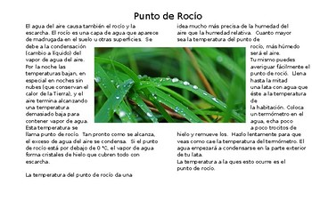 Punto de Rocio/ Dew Point fill in the blank
