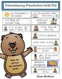 "Groundhog Day Activities: Punxsutawney Punctuation: ""Fix The Sentence"" Cards"