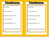 Pupil fact file for Tutankhamun