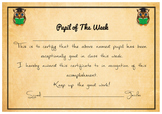Pupil of the week Certificate