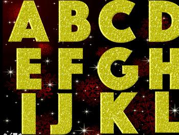 God Sparkle Alphabet clipart
