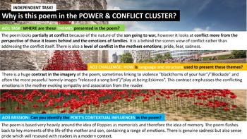 Pupils' Poetry! Complete Independent Study Guide! Power & Conflict (Part 2)