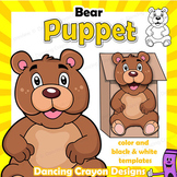 Puppet Bear Craft Activity | Printable Paper Bag Puppet Template