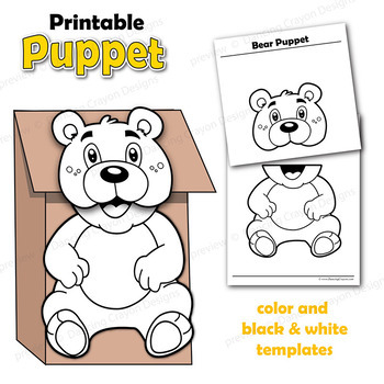 photo regarding Printable Paper Bag Puppets named Puppet Go through Craft Game Printable Paper Bag Puppet Template
