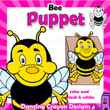 Bee Craft Activity | Printable Paper Bag Puppet Template
