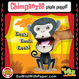 Puppet Chimpanzee Craft Activity | Printable Chimp Puppet Ape