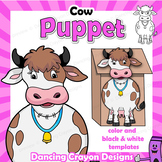 Puppet Cow Craft Activity | Printable Paper Bag Puppet Template