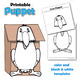 Puppet Crow Craft Activity | Printable Paper Bag Puppet Template
