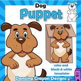 Puppet Dog Craft | Printable Paper Bag Puppet Template